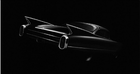untitled (cadillac) by robert longo