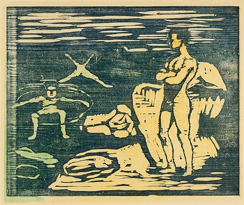 badende jünglinge / boys bathing by edvard munch