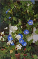glorious morning glories (sold) by kathy anderson