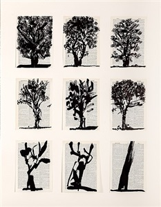 universal archive (nine trees) by william kentridge