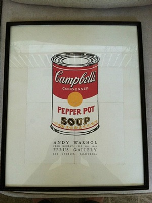 poster from warhol's first pop art show by andy warhol