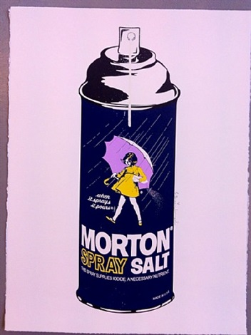 morton salt spray by mr. brainwash