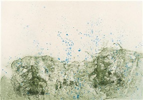 mountain in rain by pat steir