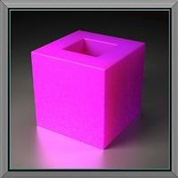 holed cube by ronald davis