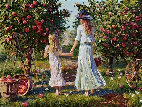 one day in the orchard by h. gordon wang
