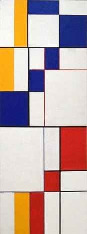 diagonal passage: red-blue-yellow by leon polk smith