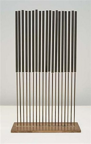 single row sonambient sculpture by harry bertoia