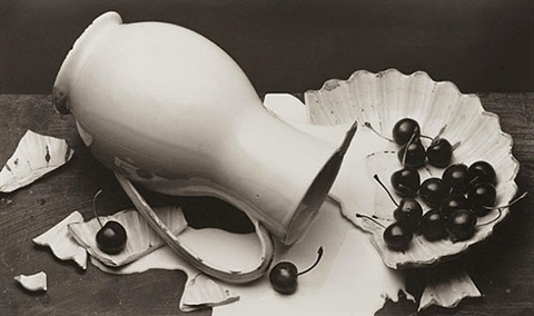 spilled cream by irving penn