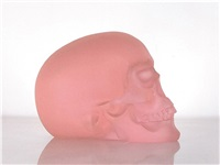 pink skull by sherrie levine
