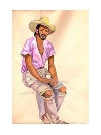 campesino con la camisa rosa by tamara de lempicka