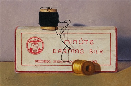darning silk still life (sold) by dan brown