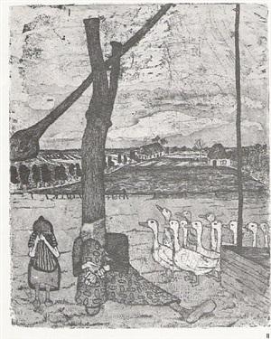 die gänsemagd by paula modersohn-becker