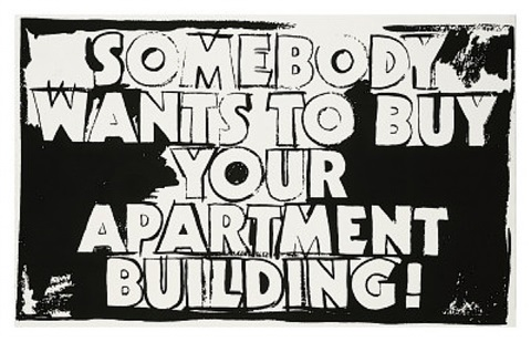 somebody wants to buy your apartment building by andy warhol