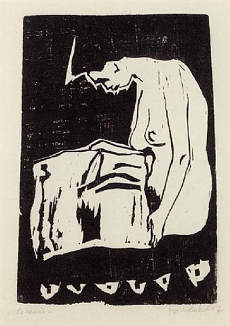 lesende (reading woman) by erich heckel