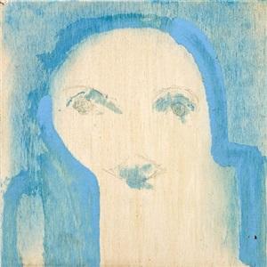 untitled (blue background) by marisa merz