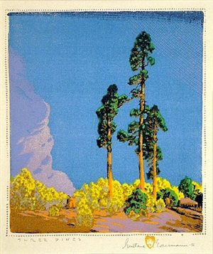three pines by gustave baumann