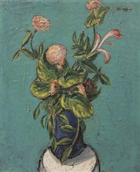 vase of flowers by alfred henry maurer