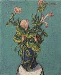 vase of flowers by alfred henry maurer