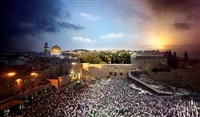 jerusalem, day to night by stephen wilkes