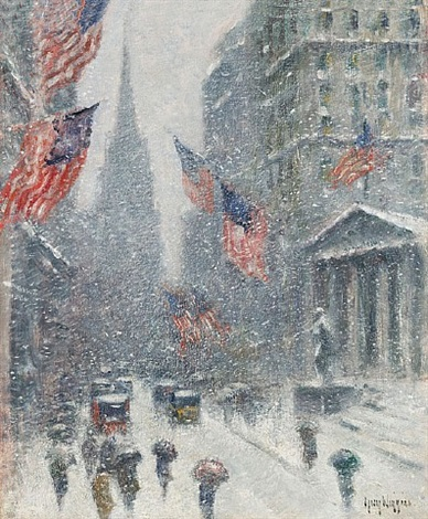 washington's birthday—wall street winter by guy carleton wiggins