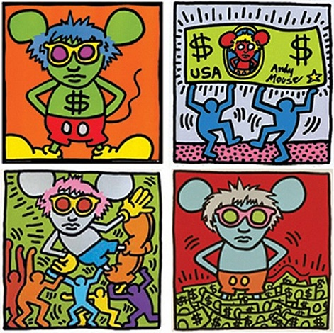 andy mouse by keith haring and andy warhol