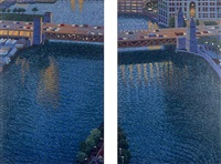 chicago river, bridges ii by yvonne jacquette