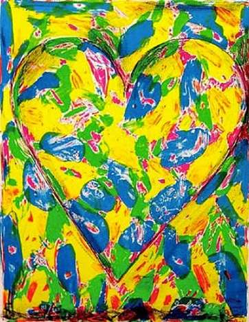 the blue heart by jim dine