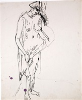woman dressing by ernst ludwig kirchner