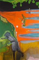 cricket painting (paragrand) by peter doig