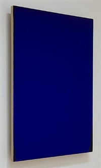 blue painting by joseph marioni