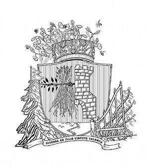 heraldic crests for invasive species: himalayan balsam by marina zurkow