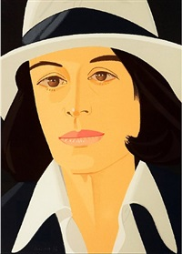 ada in white hat by alex katz