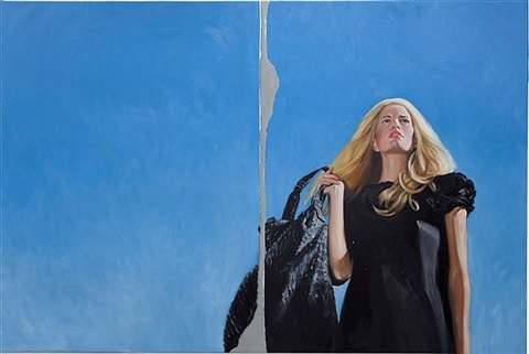 blonde on blue by delia brown