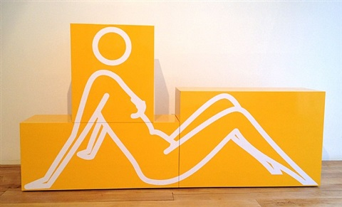reclining nude by julian opie
