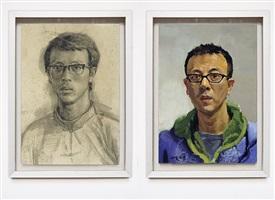 self-portrait<br /> liu xiadong self-portrait by liu xiaodong