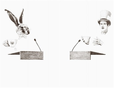 serie e #10 (lewis carroll) by christian messel