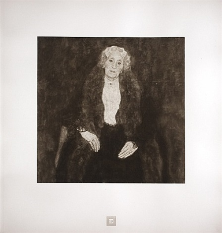 portrait of an old lady (charlotte pulitzer) from <i>aftermath</i> by gustav klimt