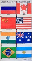 the ornate top 8 big world country flags by gregory blackstock