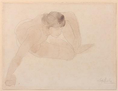 small crouching figure (petite figure accroupie) by auguste rodin