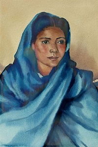 portrait in blue (untitled) by gene kloss