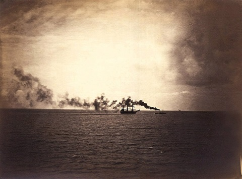 le vapeur (the tugboat), normandy by gustave le gray