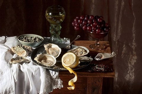 oysters and lemon, after w.c.h. by paulette tavormina