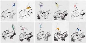 body in flight: delta series suite by allora & calzadilla