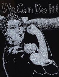 rosie the riveter, pictures of diamonds by vik muniz