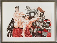 models & horses (inventory #11102g) by philip pearlstein