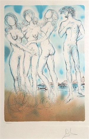 the judgment of paris by salvador dalí