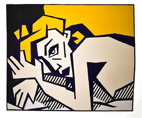 reclining nude by roy lichtenstein