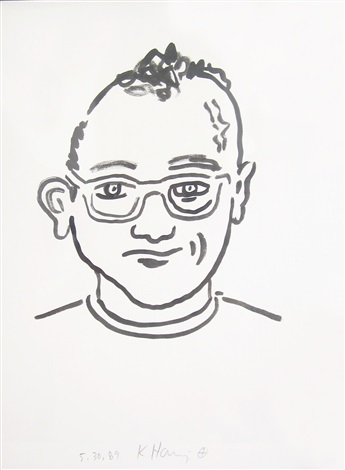 untitled self portrait by keith haring
