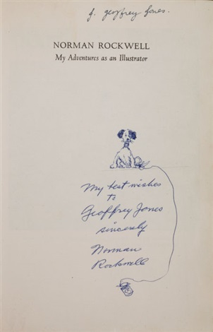 title page drawing and inscription by norman rockwell