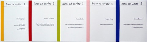 how to write, 1-5 booklets